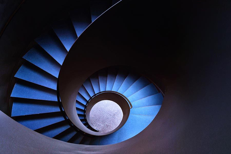 Escalier bleu | Blue wheel